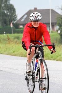 Radstrecke im Regen