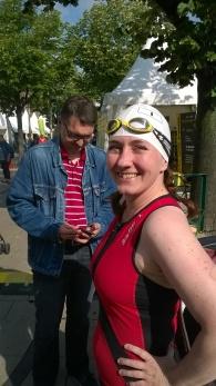 Kurz vor dem Schwimmstart beim Hamburger Triathlon 2015