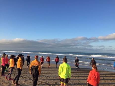 Frühsport und Lauf-ABC am Strand…