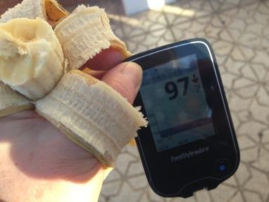Kein perfekter Wert um gleich loszulaufen… aber es gibt ja Bananen!
