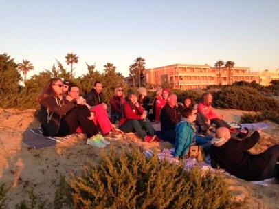 Laufreise heißt Gruppenreise. Gemeinsam am Strand…