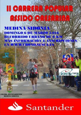 Plakat für den Volkslauf in Medina Sidonia
