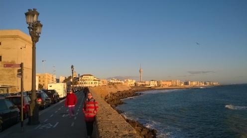 Abendsonne in der Bucht von Cádiz