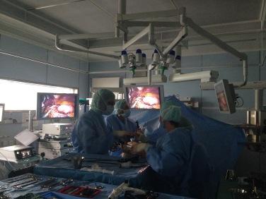 … wo die chirurgische Magenverkleinerung schon begonnen hat…