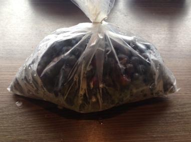 500 Gramm tiefgefrorene oder frische Heidelbeeren