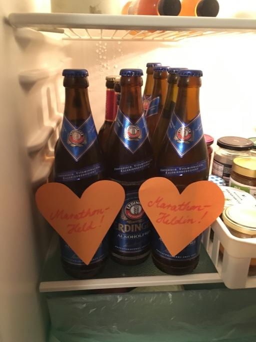 Danke an meine andere Schwester Caro, in deren Wohnung wir übernachten durften - den Kühlschrank hatte sie vor ihrem Urlaub fein präpariert