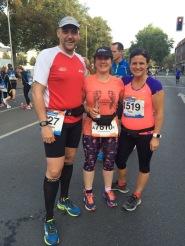 Christoph, Antje und Julia kurz vor dem Start