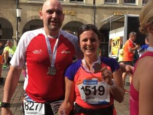 Marathon-Debüt in 4:37:19 für meine Schwester Julia, 4:38:23 für Christoph