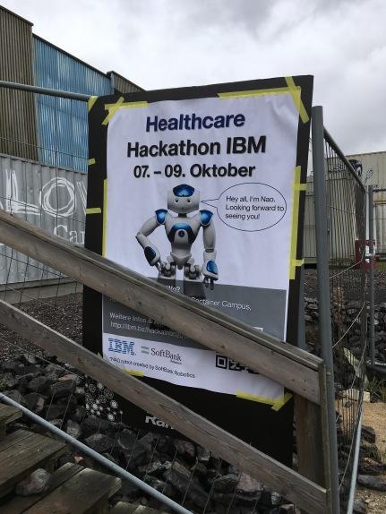 Hereinspaziert: Hier geht's zum Healthcare Hackathon der Firma IBM