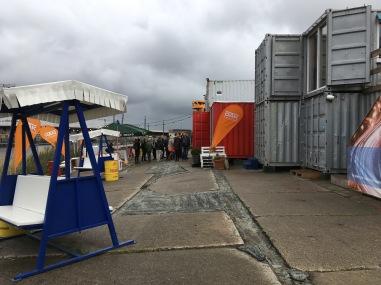Auf diesem Container-Campus in der Hamburger Hafencity verbrachten etwa 40 Nerds ihr Wochenende, um mit Watson neue Healthcare-Anwendungen auszutüfteln
