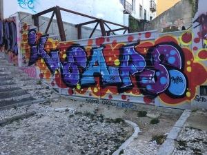 … denn Graffiti werden in Lissabon weitgehend toleriert