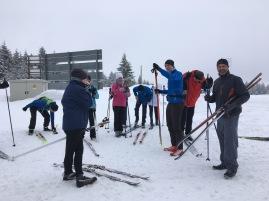 Unsere IDAA-Skitruppe kurz vor dem ersten Training…