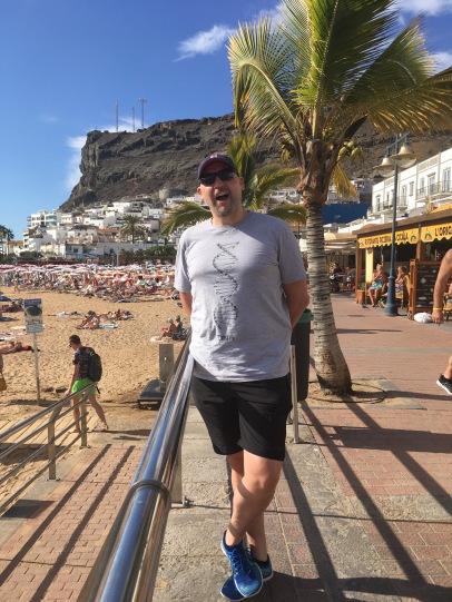 Im Urlaub auf Gran Canaria im Dezember 2017 brachte Christoph noch 105 Kilo auf die Waage