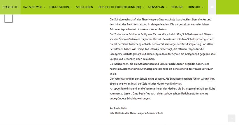 Screenshot Theo-Hespers-Gesamtschule